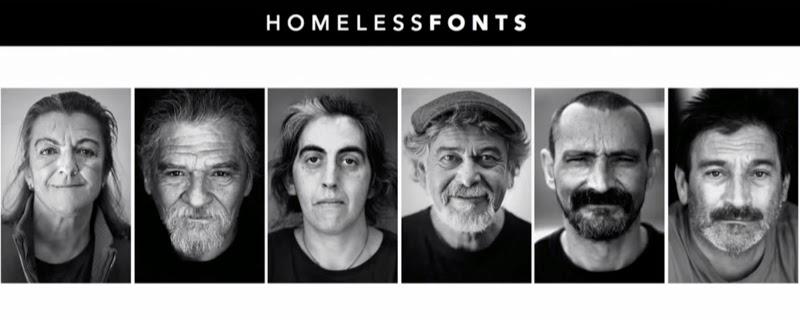 HomelessFont; Las tipografías de los sin techo