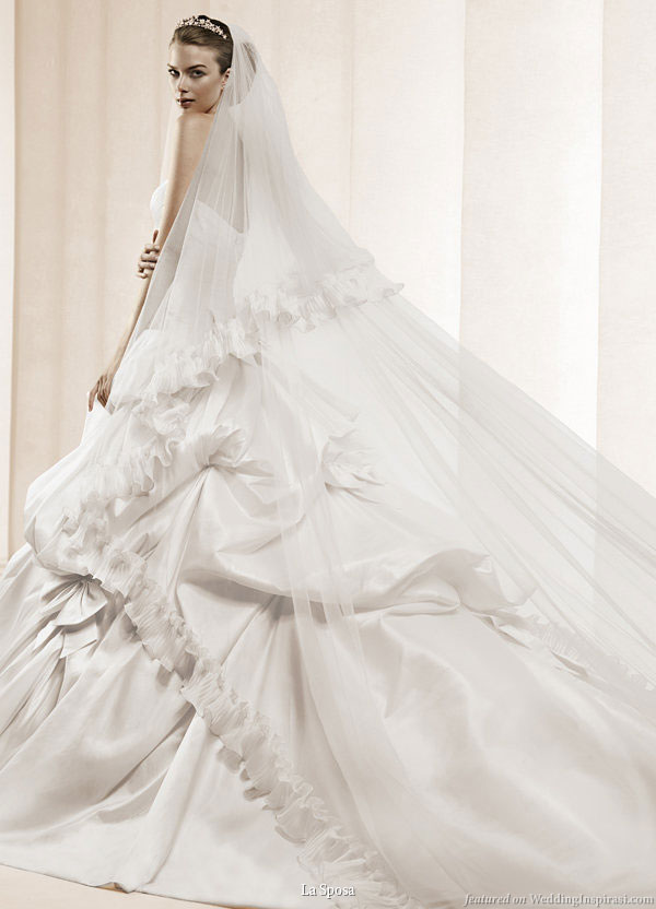 La Sposa ball gown wedding dresses are very luxurious full of royal styles