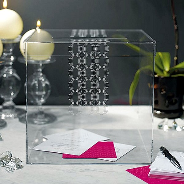 Modern Clear Acrylic Wedding Card Box