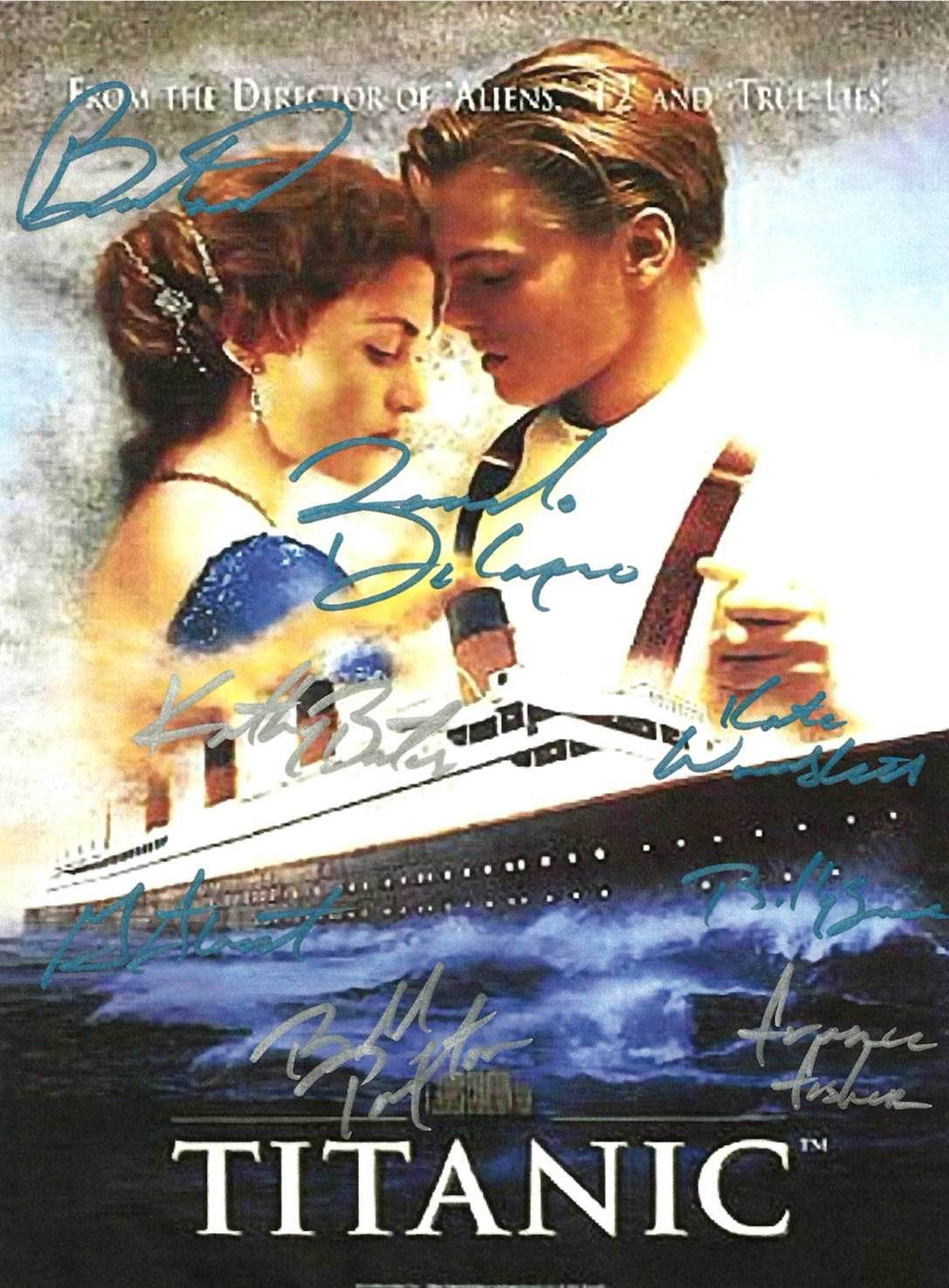 Signed titanic movie poster
