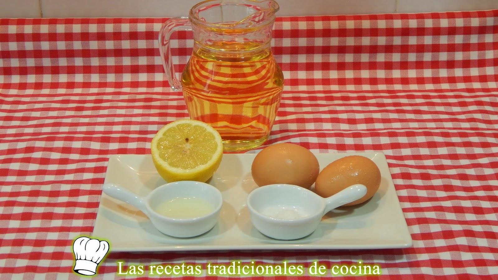 Receta de la salsa mayonesa casera