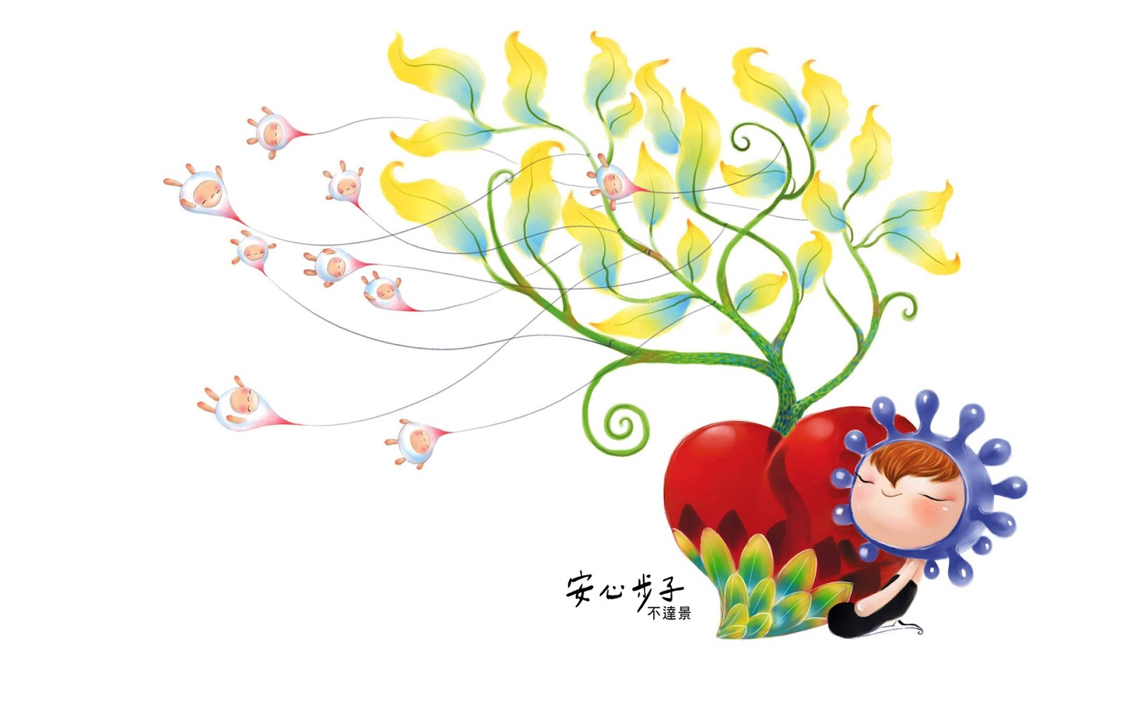 Cartoon Themes Wallpaper an Hsin pu Tzu Lovely Cartoon
