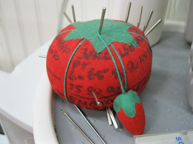 tomato labeled with machine needle numbers