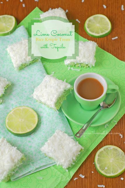 #lime, #coconut, #ricekrispies, #tequila, #bars, #dessert, #nobake, #snack