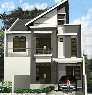 contoh desain atap rumah minimalis 2 lantai