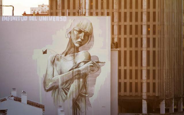 South African Painter Faith47 Newest Mural On The Streets Of Malaga, Spain For Maus Malaga Urban Art Festival. 3