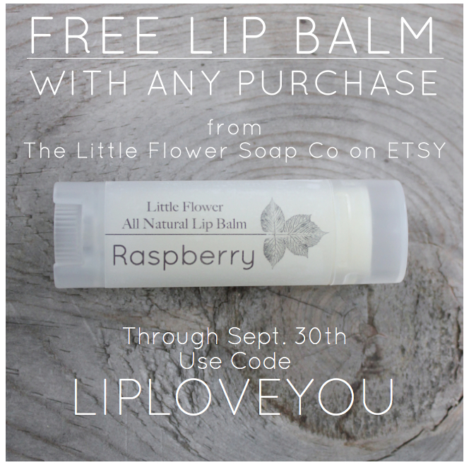 Free Lip balm little flower soap co raspberry all natural lip balm spa chapstick