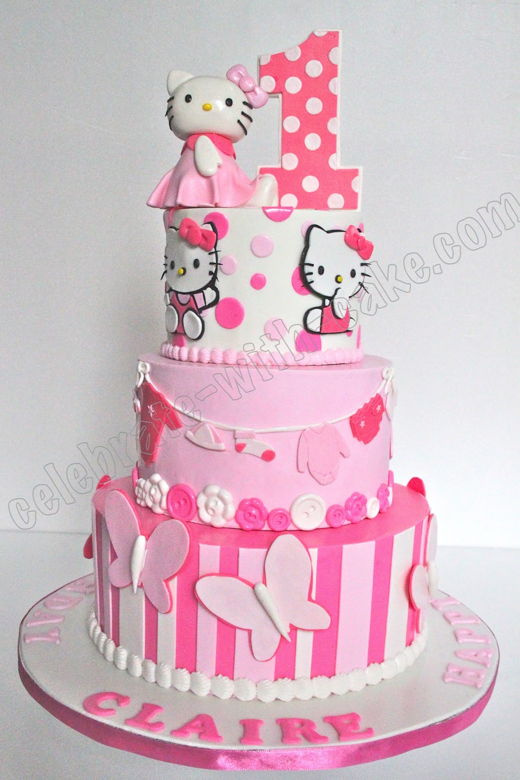 Birthday Cake Pictures Hello Kitty : Celebrate with Cake!: Hello Kitty Cake