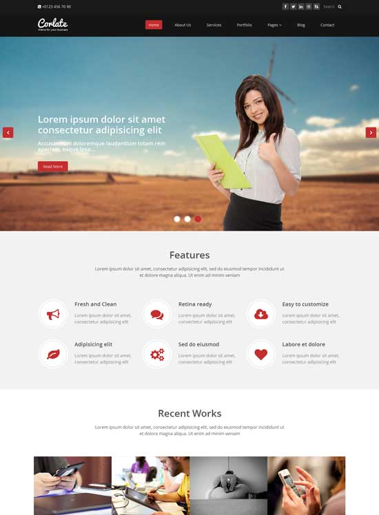 Corlate Free Responsive Bootstrap Template HTML | Lets Themes Download