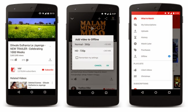 YouTube Offline Playback Released by Google for Android Users