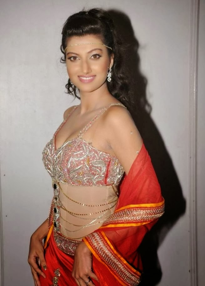 Hamsa Nandini in Half Saree at Crescent Cricket Cup Trophy 2013