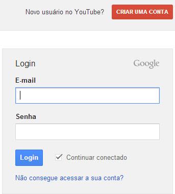 Fazer login no Google