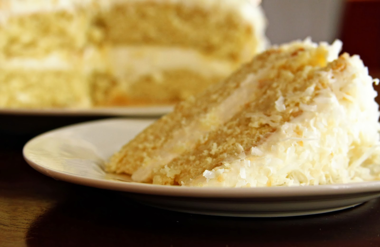 Izan's Recipes: Coconut Cream Cake with Coconut Cream Cheese Frosting