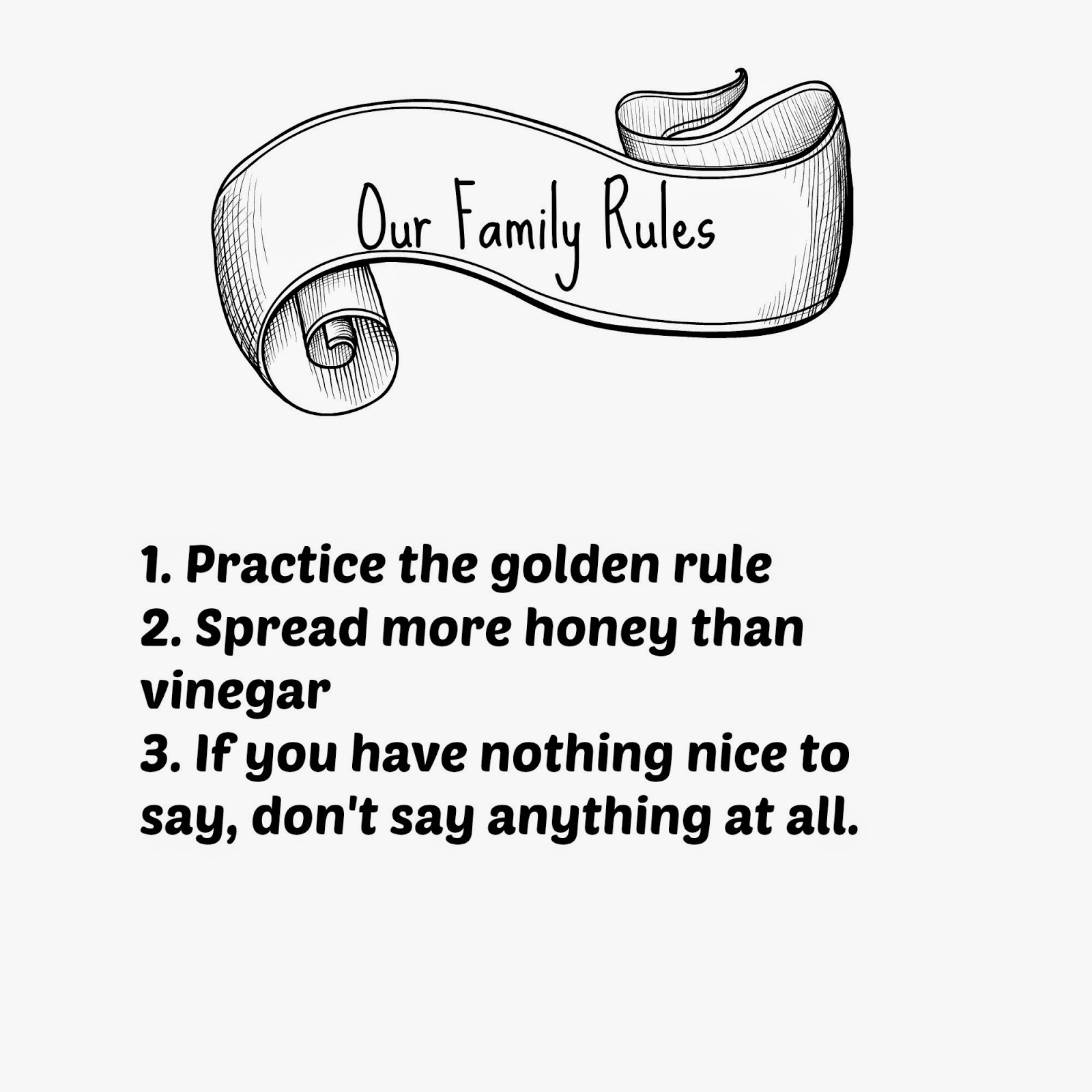 positive family rules list