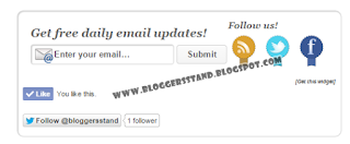 Social Media 3 in 1 Subscribe Box Below Post Widget