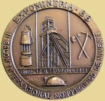 Medalla de la Expominería 88 en Gijón