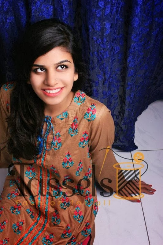 New Stylish Party Wear Winter Dresses Collection 2014 For Women And Girls By Tassels