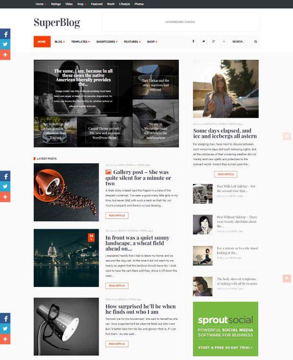 Powerful theme SuperBlog