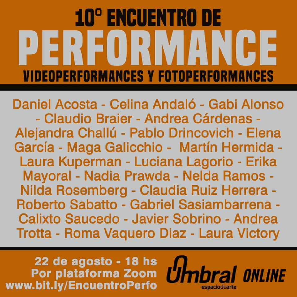 10° Encuentro de Performance en Umbral 2020