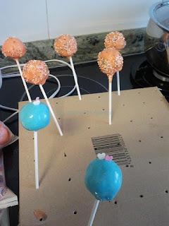 Cakepops secando