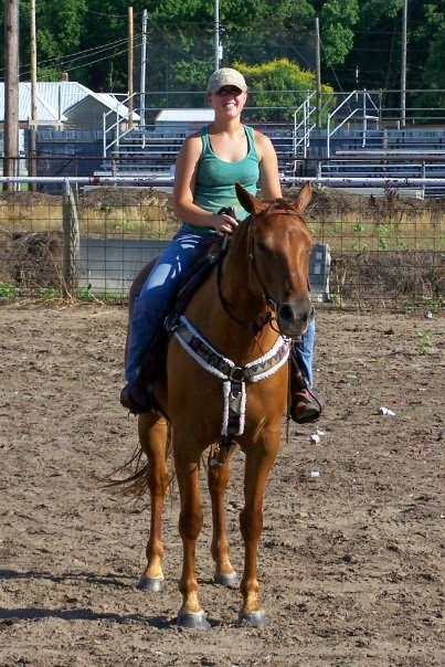 Riding my horse, Daisy