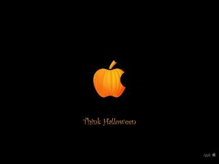 think halloween Apple Mac logo