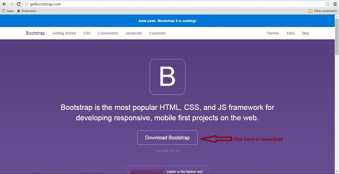 Tutorial bootstrap part 1 how to install framework bootstrap 336 download bootstrap framework from its official website baditri Image collections