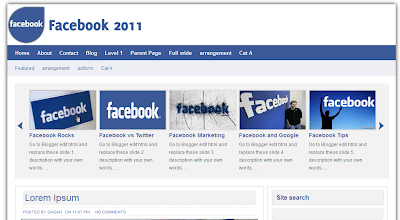 1step web design: [Template] Facebook 2011 - FB Design Blogger Template