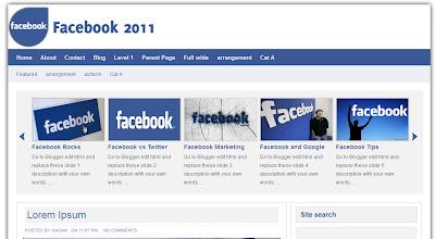 1step web design template facebook 2011 fb design blogger template facebook blogger templates maxwellsz