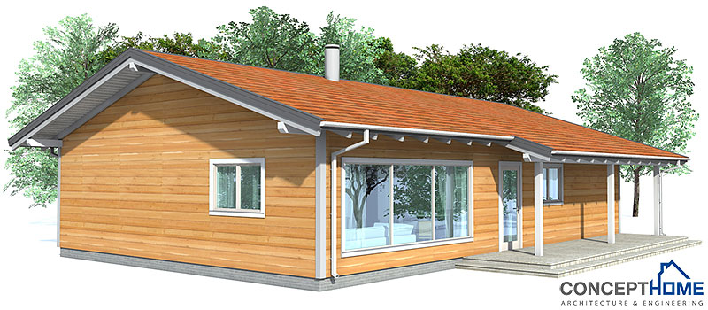 Affordable home plans affordable home plan ch32 for Most inexpensive house plans to build