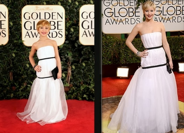 Criança, vestidas como celebridades, Globo de Ouro