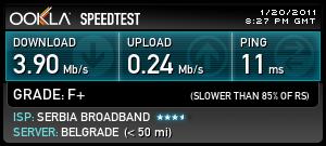 merenje brzine interneta kablovski sbb