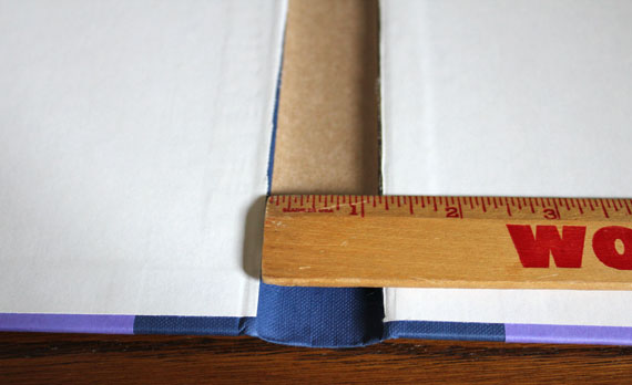measuring book spine