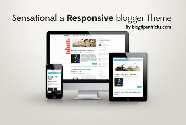 Sensational a Responsive blogger template