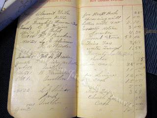antique ledger handwriting