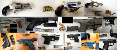 Top to Bottom - Left to Right: Firearms Discovered at DAL, CLT, FAR, JAX, RAP, SNA, AUS, MCO, ATL, DAL, DAL, ATL, MCI