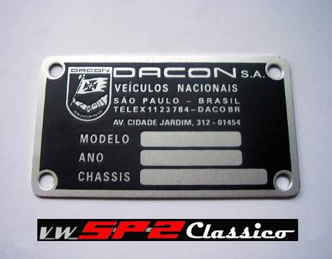 Plaqueta de identificação DACON