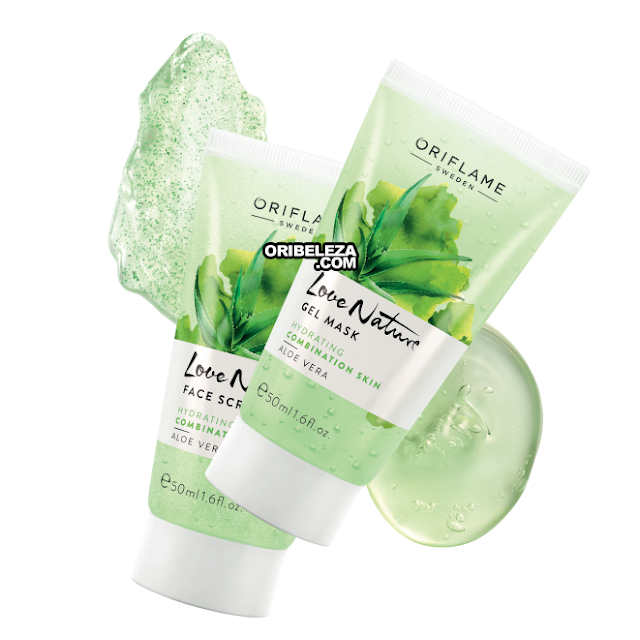 Esfoliante Facial e Máscara em Gel Love Nature