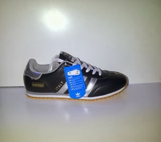 Sepatu Adidas Italy hitam putih murah,