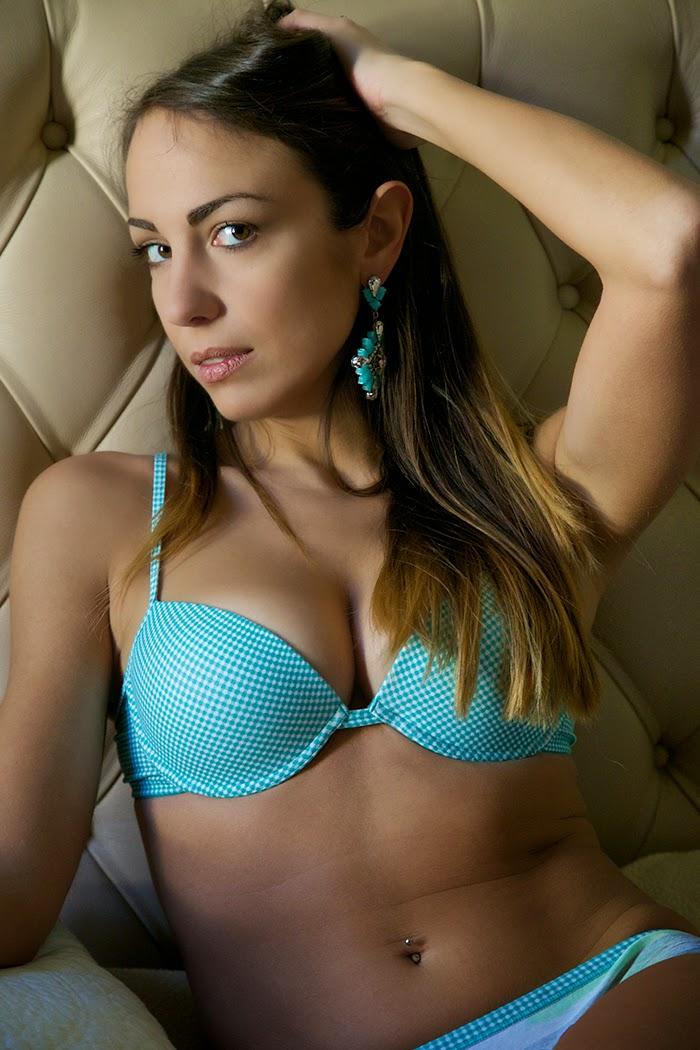 aqua blue bra