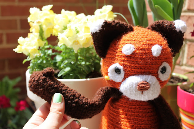 Amigurumi Panda Rojo : Amigurumi Food: My Red Panda {Amigurumi Food}