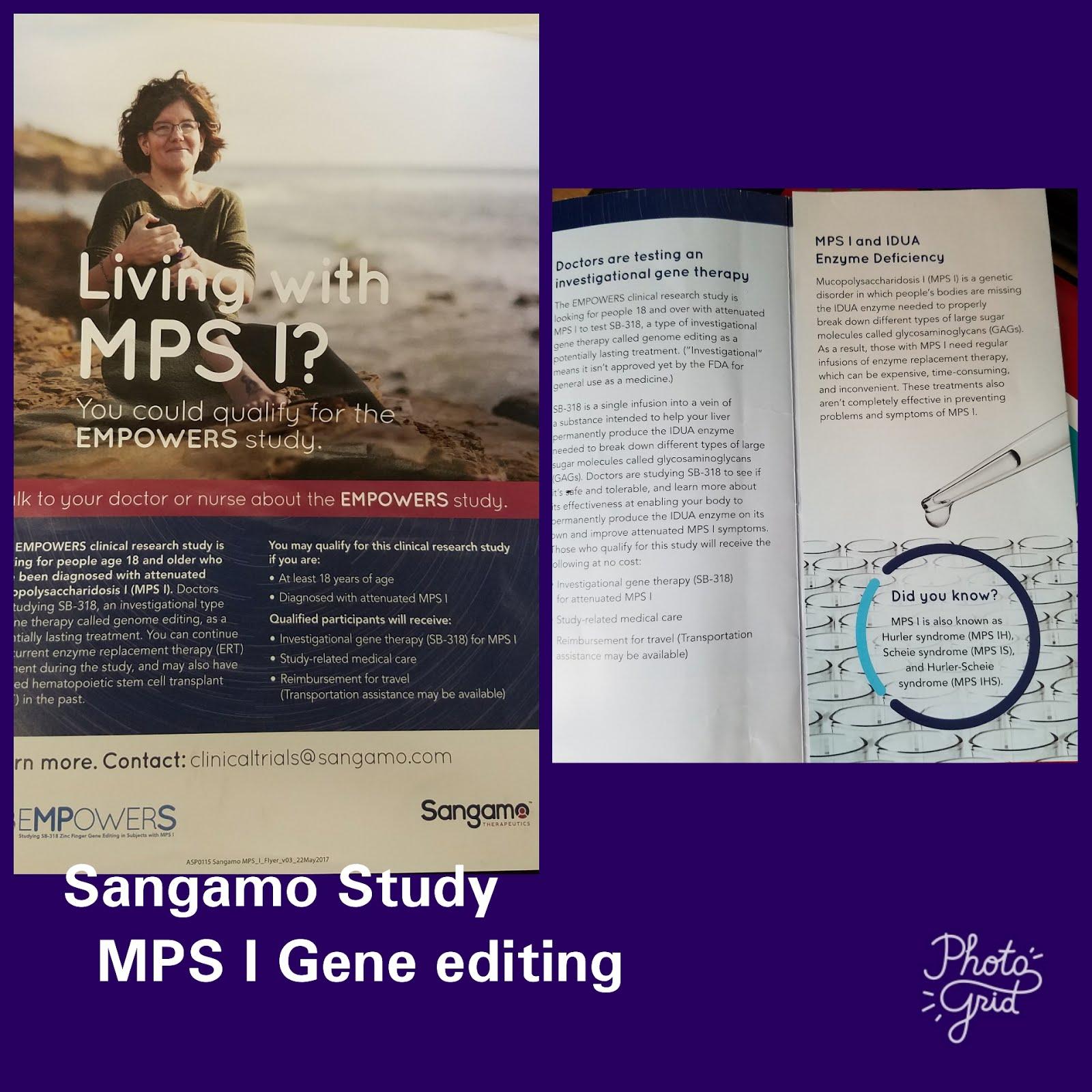 Sangamo, MPS I