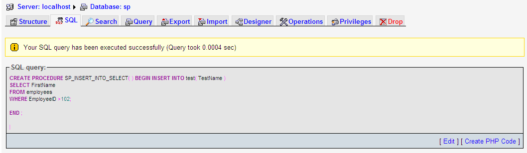 Examples Mysql Stored Procedure Example Insert Into Select