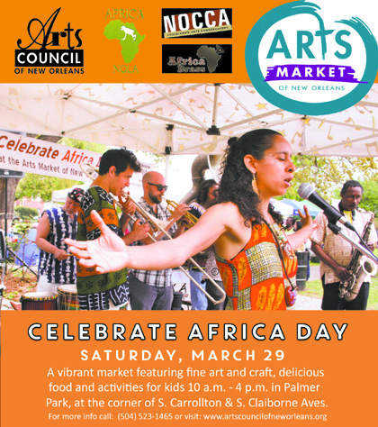 Arts Market of New Orleans:  Celebrate Africa Day