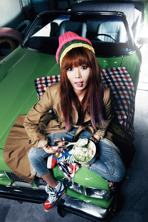 Hyuna shares unreleased BTS photos from 'Ice Cream ...