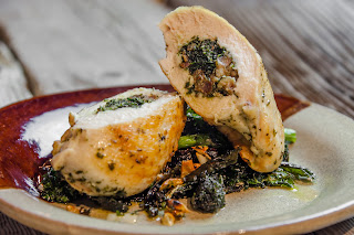 Savory Kale Stuffed Chicken