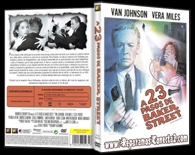 A 23 Pasos de Baker Street [1956] Caratula - cine clásico