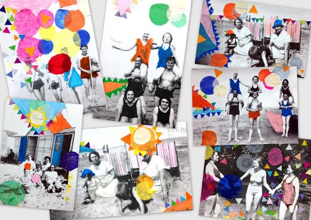 Les petites t tes de l 39 art stage d 39 t collages souvenirs de vacances - Souvenir de vacances ...