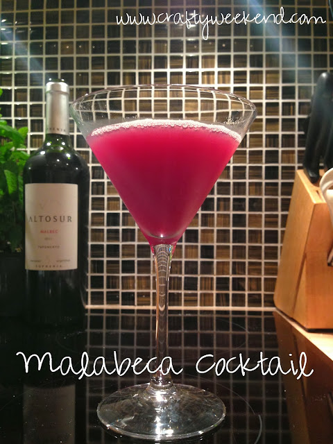 malabecca, malbeca red wine cocktail with apple juice