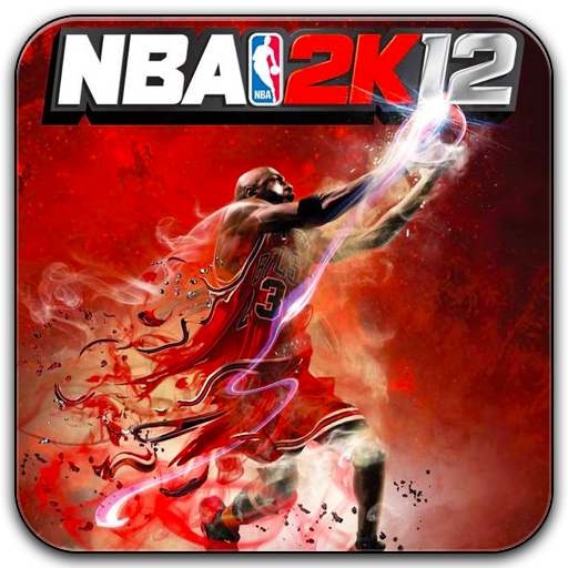 Nba 2k12 icon with rounded corners featuring michael jordan ico and